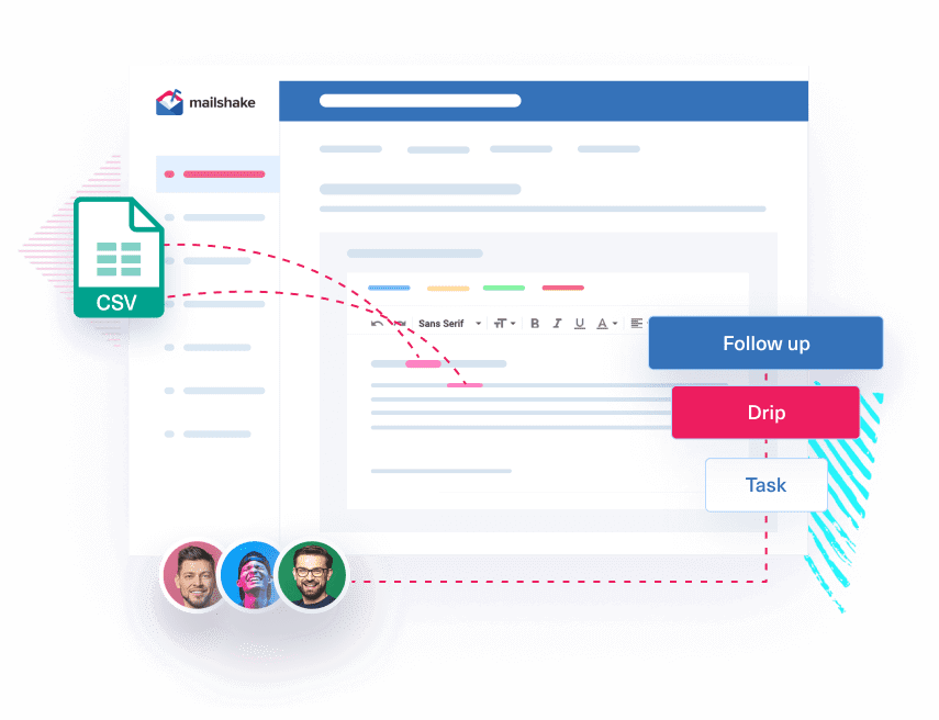 Mailshake sales app
