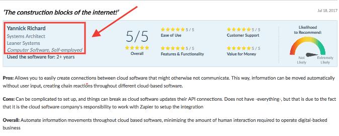 Capterra review