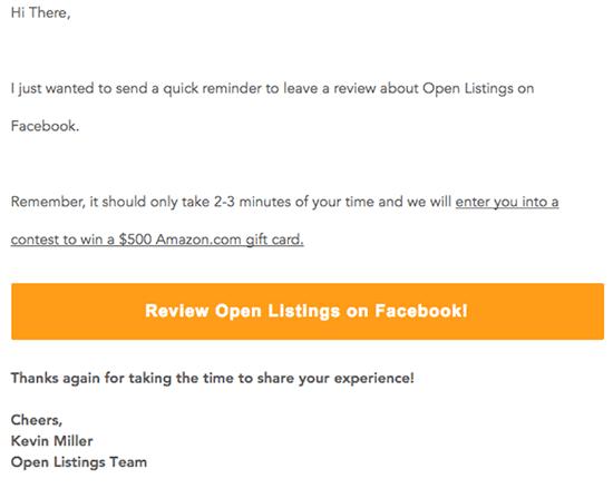 Open Listings.com Follow Up