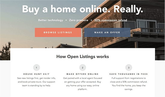 How Open Listings works