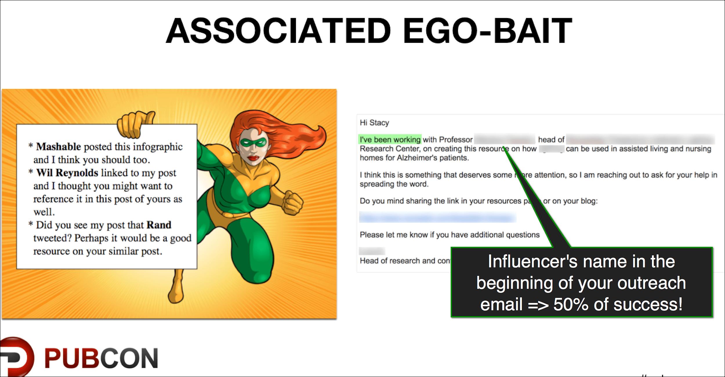 Associated ego-bait