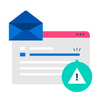 Email warning alert
