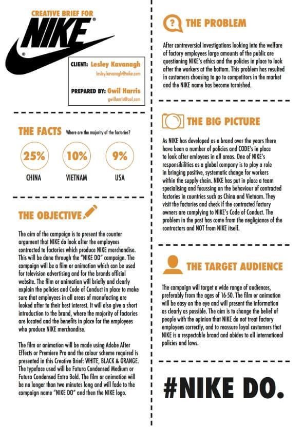 Nike Creative Brief