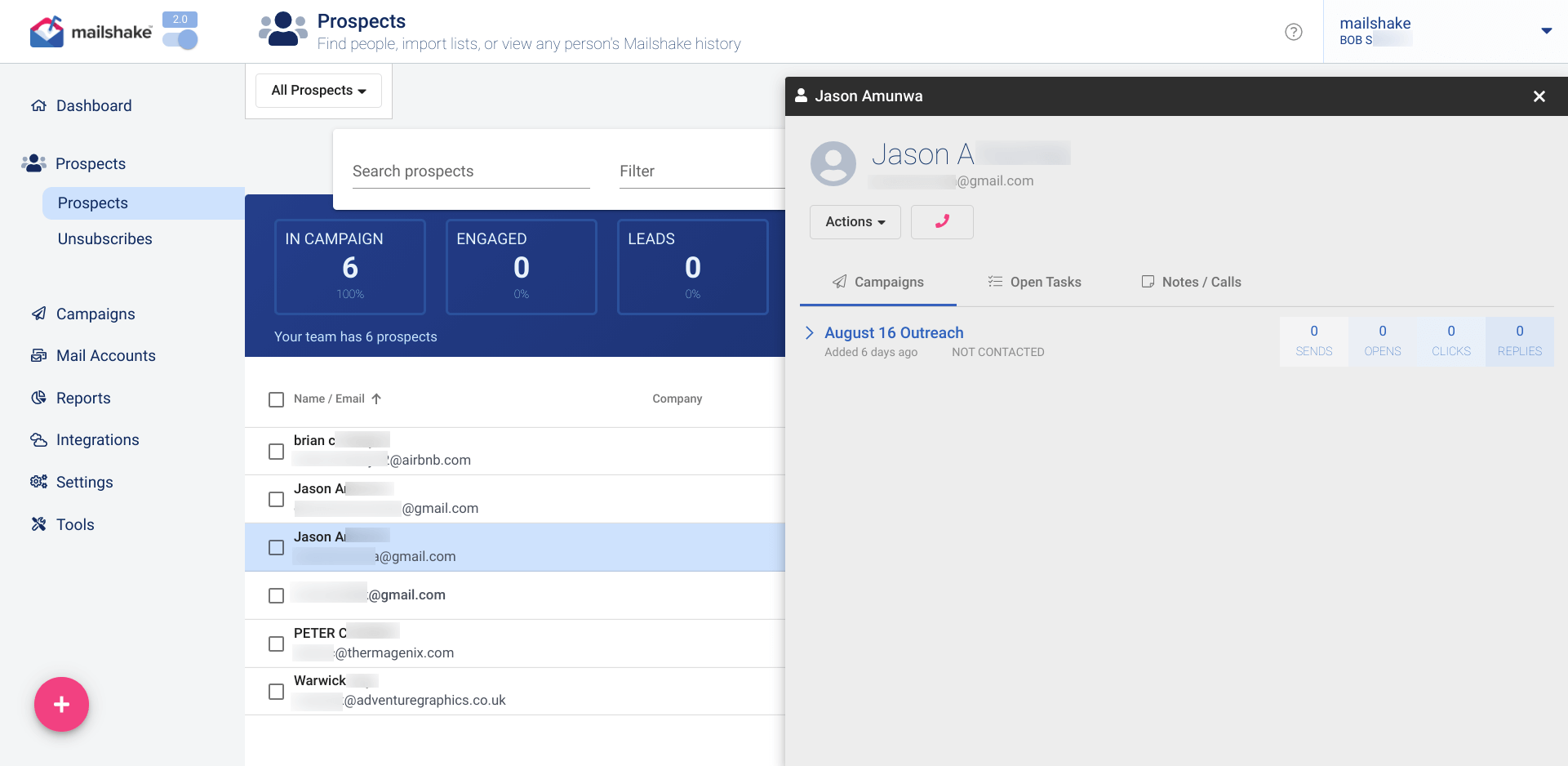 See Your Campaigns in the Mailshake Dashboard